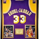 Premium Framed Kareem Abdul-Jabbar Signed Adidas NBA Lakers Jersey JSA COA