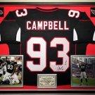 Premium Framed Calais Campbell Autographed Arizona Cardinals Jersey - JSA COA