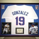 Premium Framed Autographed Juan Gonzalez Texas Rangers Jersey signed - JSA COA