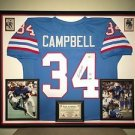 Premium Framed Earl Campbell Autographed Houston Oilers Jersey Signed PSA COA