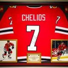 Premium Framed Chis Chelios Autographed Chicago Blackhawks Jersey - JSA COA
