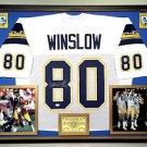 Premium Framed Kellen Winslow Autographed San Diego Chargers Jersey JSA COA