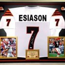 Premium Framed Boomer Esiason Signed Bengals Jersey --- JSA COA