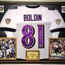 Premium Framed Anquan Boldin Autographed Ravens Jersey JSA COA
