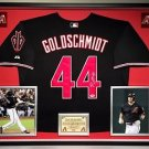 Premium Framed Paul Goldschmidt Autographed Arizona Diamondbacks Jersey - PSA
