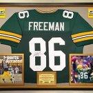Premium Framed Antonio Freeman Autographed Packers Jersey JSA COA