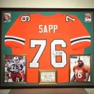 Premium Framed Warren Sapp Autographed Miami Hurricanes Jersey Signed PSA/DNA