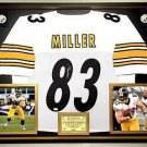 Premium Framed Heath Miller Autographed Steelers Jersey JSA COA