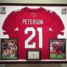 Premium Framed Patrick Peterson Autographed Cardinals NIKE Jersey Signed JSA COA