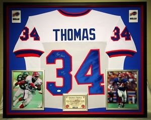 Premium Framed Thurman Thomas Signed Buffalo Bills Jersey JSA COA & Thomas Holo