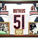 Premium Framed Dick Butkus Autographed Chicago Bears Jersey - JSA COA