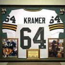 Premium Framed Jerry Kramer Autographed Inscribed Packers Jersey Signed PSA/DNA