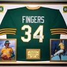 Premium Framed Rollie Fingers Autographed A's Jersey PSA/DNA COA - Athletics
