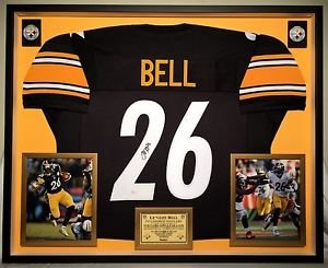 Premium Framed Le'Veon Bell Autographed Pittsburgh Steelers Jersey JSA - leveon