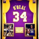 Premium Framed Shaquille O'Neal Autographed Lakers Jersey - JSA COA - Shaq Oneal