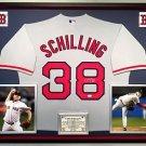 Premium Framed Curt Schilling Signed Boston Red Sox Jersey - JSA - Kurt, Redsox