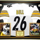 Premium Framed LeVeon Bell Autographed / SIgned Steelers Jersey JSA COA - leveon