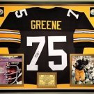 Premium Framed Joe Greene Autographed Pittsburgh Steelers Jersey - JSA COA