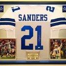 Premium Framed Deion Sanders Autographed Dallas Cowboys Jersey JSA COA