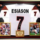 Premium Framed Boomer Esiason Signed Bengals Jersey w/ JSA COA