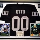Premium Framed Jim Otto Autographed Oakland Raiders Jersey - JSA COA