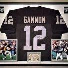 Premium Framed Rich Gannon Autographed Oakland Raiders Jersey - JSA COA