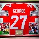 Premium Framed Eddie George Signed / Autographed Ohio State Buckeyes Jersey JSA COA - titans