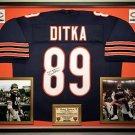 Premium Framed Mike Ditka Autographed Chicago Bears Jersey - JSA COA