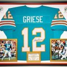 Premium Framed Autographed Bob Griese Miami Dolphins Jersey - JSA COA