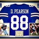Premium Framed Drew Pearson Autographed Cowboys Jersey JSA COA