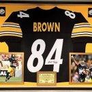 Premium Framed Antonio Brown Signed / Autographed Steelers Jersey JSA COA