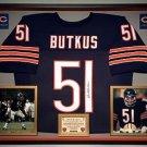 Premium Framed Dick Butkus Autographed Bears Jersey - JSA COA
