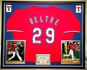Premium Framed Adrian Beltre Autographed Texas Rangers Jersey - JSA COA