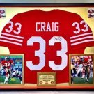 Premium Framed Roger Craig Signed 49ers Jersey JSA COA