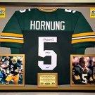Premium Framed Paul Hornung Autographed Packers Jersey - Tristar COA