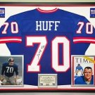 Premium Framed Sam Huff Autographed New York Giants Jersey JSA Authenticated
