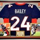 Premium Framed Champ Bailey Autographed / signed Broncos Jersey --- JSA COA
