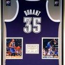 Premium Framed Kevin Durant Signed Official Adidas OKC Thunder Jersey PANINI COA