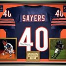 Premium Framed Gale Sayers Autographed Chicago Bears Jersey - JSA COA