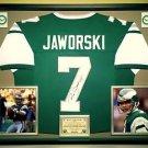 Premium Framed Ron Jaworski Autographed Philadelphia Eagles Jersey - JSA COA