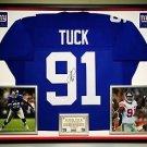 Premium Framed Justin Tuck Autographed New York Giants Jersey - JSA COA