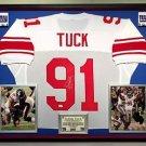Premium Framed Justin Tuck Autographed / Signed New York Giants Jersey - JSA COA