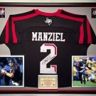 Premium Framed Johnny Manziel Signed / Autographed Adidas Texas A&M Aggies Jersey PSA Auth.