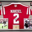 Premium Framed Johnny Manziel Signed / Autographed Adidas Texas A&M Aggies Jersey PSA/DNA