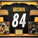 Premium Framed Antonio Brown Autographed Pittsburgh Steelers Jersey JSA COA
