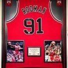 Premium Framed Dennis Rodman Signed Chicago Bulls Jersey - JSA COA