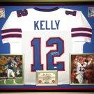 Premium Framed Jim Kelly Autographed / Signed Buffalo Bills Jersey Signed - JSA