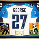 Premium Framed Eddie George Autographed / Signed Titans Jersey - JSA COA - ohio state