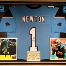 Premium Framed Cam Newton Autographed Carolina Panthers Jersey - PAAS COA
