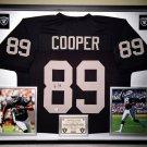 Premium Framed Amari Cooper Autographed Oakland Raiders Jersey - GA COA